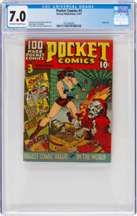 Pocket Comics #3 (Harvey, 1941) CGC FN/VF 7.0 Off-white to white pages