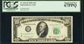 Small Size:Federal Reserve Notes, Fr. 2013-B $10 1950C Federal Reserve Note. PCGS Superb Gem New 67PPQ.. ...
