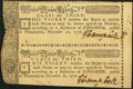 Continental Congress United States Lottery Ticket Class the Third Uncut Pair November 18, 1776 About New