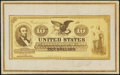 Miscellaneous:Other, Naramore Photo Card. $10 1863 Legal Tender Design. Not Graded.. ...