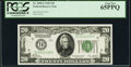 Fr. 2050-I $20 1928 Federal Reserve Note. PCGS Gem New 65PPQ