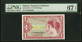 Military Payment Certificates:Series 641, Series 641 $1 Third Printing PMG Superb Gem Uncirculated 67 EPQ.. ...