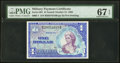Military Payment Certificates:Series 661, Series 661 $1 PMG Superb Gem Uncirculated 67 EPQ.. ...