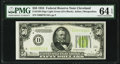 Fr. 2102-D $50 1934 Light Green Seal Federal Reserve Note. PMG Choice Uncirculated 64 EPQ
