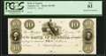 Obsoletes By State:Georgia, Augusta, GA- Bank of Augusta $10 18__ Proof G80 PCGS New 61.. ...