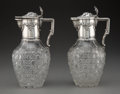 Silver & Vertu, A Pair of German Silver Mounted Cut-Glass Carafes,...