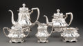 Silver & Vertu, A Five-Piece Gorham Mfg. Co. Martelé Partial Gilt Silver Tea and Coffee Service, Providence, Rhode Island, 1906... (Total: 5 )