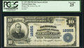 National Bank Notes:New Jersey, Jersey City, NJ - $10 1902 Plain Back Fr. 635 Bergen National Bank Ch. # 12255 PCGS Very Fine 25.. ...