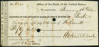 Washington, DC - Office of the Bank of the United States $50 Jan. 16, 1832 Very Fine