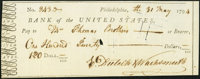 Philadelphia, PA- Bank of the United States (1st) $120 May 31, 1794 Extremely Fine