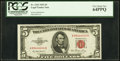 Fancy Serial Number 88444444 Fr. 1532 $5 1953 Legal Tender Note. PCGS Very Choice New 64PPQ