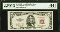 Fr. 1534* $5 1953B Legal Tender Note. PMG Choice Uncirculated 64 EPQ