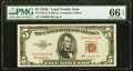 Small Size:Legal Tender Notes, Fr. 1535 $5 1953C Legal Tender Note. PMG Gem Uncirculated 66 EPQ.. ...