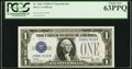 Fr. 1602 $1 1928B Silver Certificate. Z-B Experimental Block. PCGS Choice New 63PPQ
