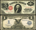 Fr. 37 $1 1917 Legal Tender Very Fine; Fr. 233 $1 1899 Silver Certificate Very Fine. ... (Total: 2 notes)