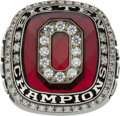 Football Collectibles:Others, 2010 Ohio State Buckeyes Big Ten Championship Ring Presented to Wide Receiver Verlon Reed....