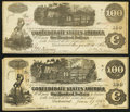 Confederate Notes:1862 Issues, T39 $100 1862 PF-4 Cr. 290 About Uncirculated;. T40 $100 1862 PF-1 Cr. 298 Very Fine-Extremely Fine.. ... (Total: 2 notes)