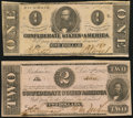 T54 $2 1862 PF-11 Cr. 392 About Uncirculated; T55 $1 1862 PF-7 Cr. 398 About Uncirculated. ... (Total: 2 notes)