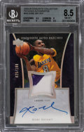 Basketball Cards:Singles (1980-Now), 2004-05 Exquisite Kobe Bryant (Patches Autograph) #KB BGS NM-MT+ 8.5, Autograph 10 - #25/100. ...