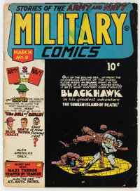 Military Comics #8 (Quality, 1942) Condition: GD/VG