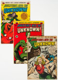 Golden Age (1938-1955):Horror, Adventures Into the Unknown #14, 34, and 37 Group (ACG, 1950-52).... (Total: 3 Comic Books)