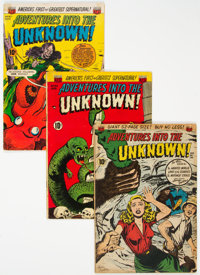 Adventures Into the Unknown #14, 34, and 37 Group (ACG, 1950-52).... (Total: 3 Comic Books)