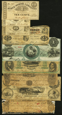 An Assortment of Obsolete Notes from New Hampshire, New Jersey, New York, and North Carolina. Fair or Better. ... (Total...