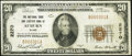 National Bank Notes:Maine, Auburn, ME - $20 1929 Ty. 1 The National Shoe & Leather Bank Ch. # 2270 Very Fine.. ...