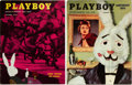 Magazines:Miscellaneous, Playboy #12 and V2#1 Group (HMH Publishing, 1954) Condition: Average FN.... (Total: 2 )