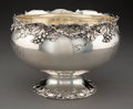 Silver & Vertu, A Whiting Mfg. Co. Silver Punch Bowl with Grape Motif