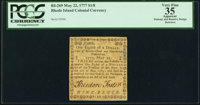 Rhode Island May 22, 1777 $1/8 PCGS Apparent Very Fine 35