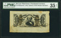 Fractional Currency:Third Issue, Fr. 1328SP 50¢ Third Issue Spinner Wide Margin Face PMG Choice Very Fine 35 Net.. ...