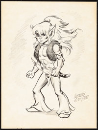 """Elfquest by Wendy Pini (1980). Very Fine-. Signed Original Artwork (9"""" X 12""""). Miscellaneous"""