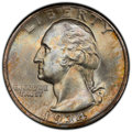 1934-D 25C Heavy Motto MS66 PCGS. CAC. PCGS Population: (40/4 and 20/0+). NGC Census: (0/0 and 0/0+). CDN: $800 Whsle. B...