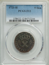 1721-H 9DEN French Colonies Copper Sou Fine 12 PCGS. PCGS Population: (3/48). NGC Census: (0/16). ...(PCGS# 158632)