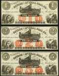 Obsoletes By State:Pennsylvania, Yatesville Colliery, (PA)- Office of the McNeal Coal Co. $1; $2; $5 186_ Remainders Choice About Uncirculated or Better.... (Total: 3 notes)
