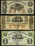 Obsoletes By State:South Carolina, Charleston, SC- Bank of the State of South Carolina $5 Jan. 9, 1858; Oct. 1, 1861 Fine-Very Fine or Better;. Charlesto... (Total: 3 notes)