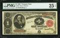 Fr. 352 $1 1891 Treasury Note PMG Very Fine 25 EPQ