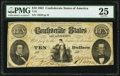 Confederate Notes:1861 Issues, T25 $10 1861 PF-2 Cr. 169 PMG Very Fine 25.. ...