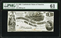T44 $1 1862 PF-3 Cr. 341 PMG Uncirculated 61