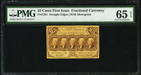 Fr. 1281 25¢ First Issue PMG Gem Uncirculated 65 EPQ
