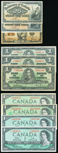 World Currency, Canada Lot of 21 Examples Fine-Very Fine or Better.. ... (Total: 21 notes)