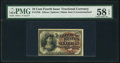 Fr. 1258 10¢ Fourth Issue PMG Choice About Unc 58 EPQ