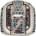 Hockey Collectibles:Others, 2003-04 Tampa Bay Lightning Stanley Cup Championship Ring Presented to Staff Member....