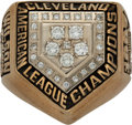 Baseball Collectibles:Others, 1997 Cleveland Indians American League Championship Ring P...