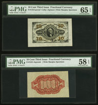 Fr. 1251SP 10¢ Third Issue Wide Margin Face PMG Gem Uncirculated 65 EPQ Fr. 1251SP 10¢ Third Issue Wide Margin...