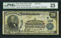 New York, NY - $20 1902 Plain Back Fr. 650 The New York County National Bank Ch. # (E)1116 PMG Very Fine 25