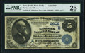 New York, NY - $5 1882 Date Back Fr. 537 The Lincoln National Bank Ch. # (E)2608 PMG Very Fine 25