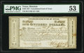 Houston, TX- Consolidated Fund of Texas $100 Sep. 1, 1837 Cr. CF10B PMG About Uncirculated 53