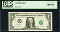 Fr. 1902-E* $1 1963B Federal Reserve Note. PCGS Superb Gem New 68PPQ